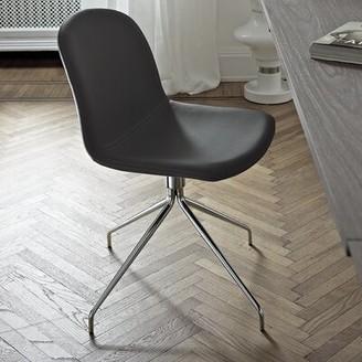 Bontempi Casa Genuine Leather Upholstered Dining Chair Bontempi Casa