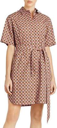 Burberry Addy Check Button-Front Shirtdress