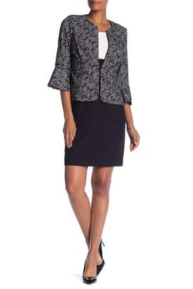 Sandra Darren Jacket & Shift Dress 2-Piece Set