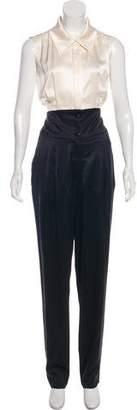 Chanel Silk Pleated Jumpsuit