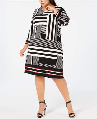 Calvin Klein Plus Size Printed Shift Dress