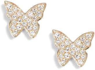 Ef Collection Butterfly Diamond Stud Earrings