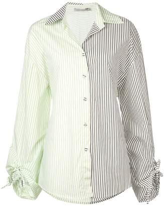 Silvia Tcherassi striped contrast panel shirt