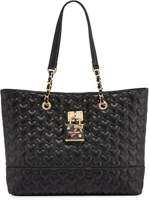 Betsey Johnson Be My Baby Quilted Tote Bag, Black $105 thestylecure.com