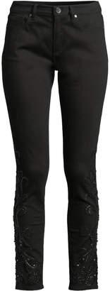 Elie Tahari Azella Embellished Skinny Jeans
