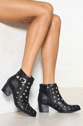 Nasty Gal Stud On the Rock Vegan Leather Boot