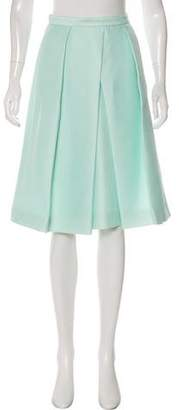 Tibi Pleated Knee-Length Skirt