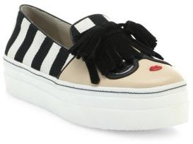 Alice and Olivia Stace Face Platform Skate Sneakers $198 thestylecure.com