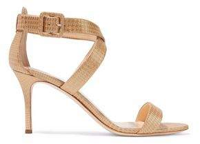 Giuseppe Zanotti Metallic Houndstooth Jacquard Sandals