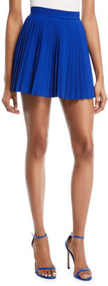 Neiman Marcus Brandon Maxwell Pleated Crepe Mini Skirt