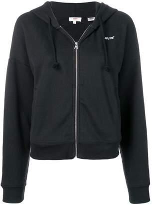 Levi's logo zipped hoodie