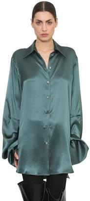 Ann Demeulemeester Oversized Satin Shirt