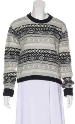 Burberry Wool & Cashmere-Blend Sweater Grey Wool & Cashmere-Blend Sweater