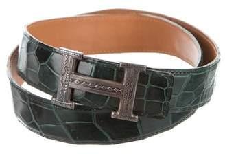 Hermes Crocodile Touareg Belt Kit