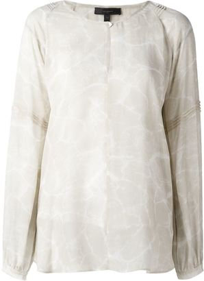 Belstaff sheer printed blouse $553.24 thestylecure.com
