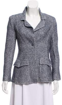 Chanel Linen-Blend Tweed Blazer
