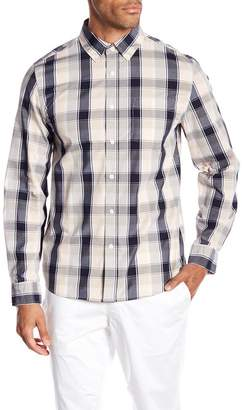 Saturdays NYC Crosby Madras Plaid Print Shirt