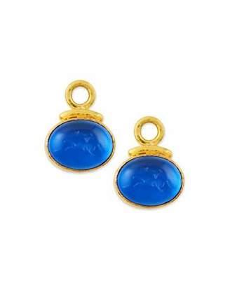Elizabeth Locke 19k Gold Equestrian Intaglio Earring Pendants