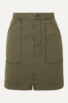 Alex Mill Cotton-blend Twill Mini Skirt - Green