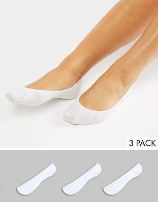 Monki 3 Pack Ballerina Socks In White