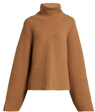 KHAITE Molly High Neck Cashmere Sweater - Womens - Beige