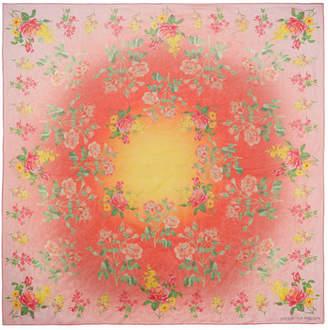Alexander McQueen Printed Silk-chiffon Scarf - Pink