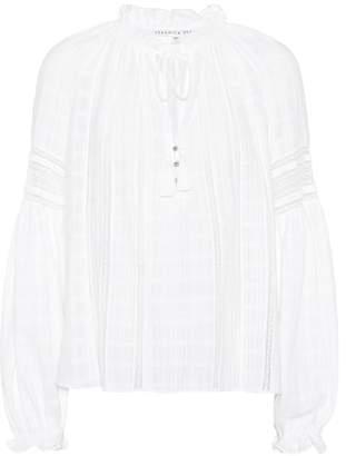 Veronica Beard Kalina cotton gauze blouse