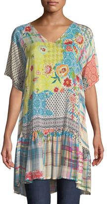 Johnny Was Happy Patchwork Georgette Tunic, Plus Size