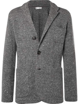 Brunello Cucinelli Donegal Virgin Wool-Blend Cardigan - Men - Gray