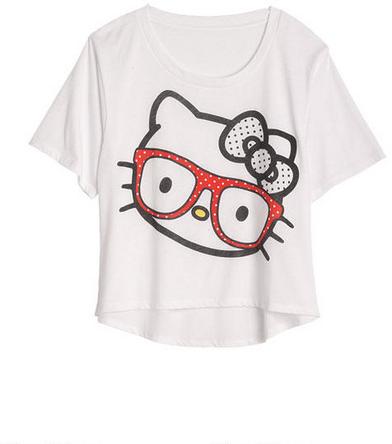 Doe Hello Kitty Glasses Burnout Tee