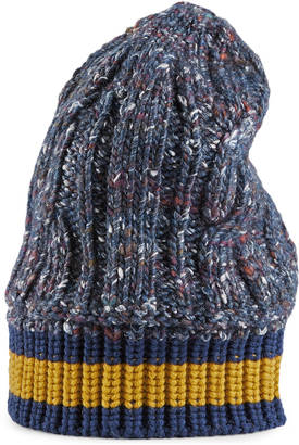 Cable knit hat with Web $295 thestylecure.com