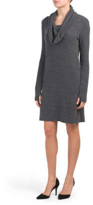 Cowl Neck Brushed Hacci Dress