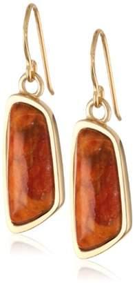 "Barse Basics"" Orange Sponge Coral Abstract Drop Earrings"