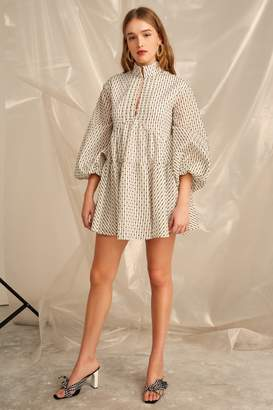 C/Meo COLLECTIVE EVEN LOVE LONG SLEEVE DRESS ivory