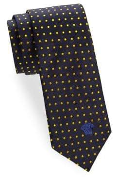Versace Silk Polka-Dot Tie