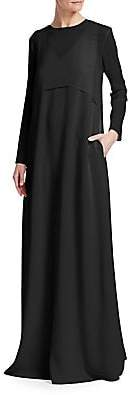 Fabiana Filippi Women's Layered Chiffon Cape Maxi Dress