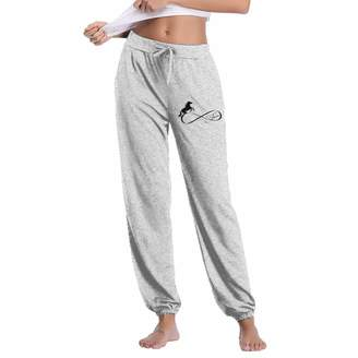 FlyhigherylF Horse Lover Infinite Love Infinity Symbol Women's Joggers Sweatpants Cotton Long Pants with Pockets