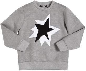 Neil Barrett Star Patches Viscose Sweatshirt