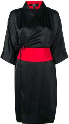 Karl Lagerfeld Paris obi belted kimono dress