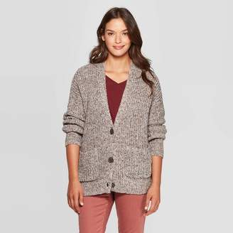Universal Thread Women's Long Sleeve V-Neck Cardigan Sweater Gray