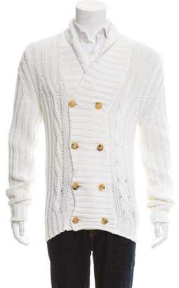 CNC Costume National Woven Button-Up Cardigan