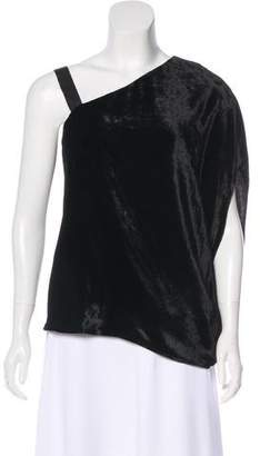 Ramy Brook Asymmetrical Velvet Top