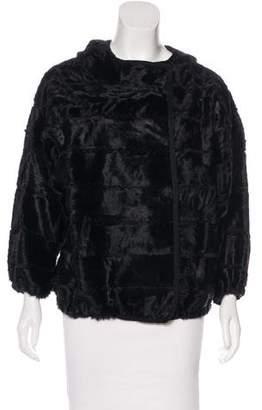 J. Mendel Broadtail Fur Hooded Jacket