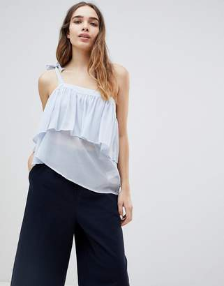 Monki Ruffle One Shoulder Top