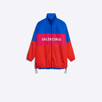 Balenciaga Tracksuit nylon jacket with logo