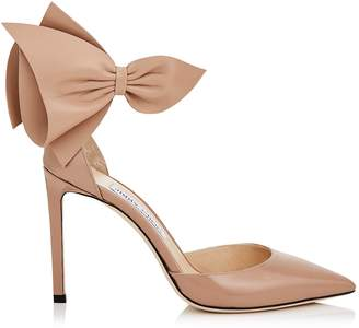 Jimmy Choo KELLEY 100 Ballet Pink Patent and Nappa Leather Pointy Toe Pumps