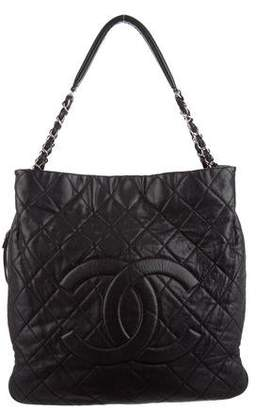 Chanel Caviar Large Quilted Expandable Tote