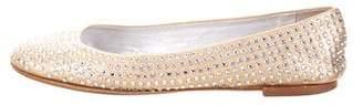 Giuseppe Zanotti Embellished Round-Toe Flats