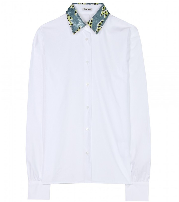 Miu Miu SEQUIN EMBELLISHED SHIRT