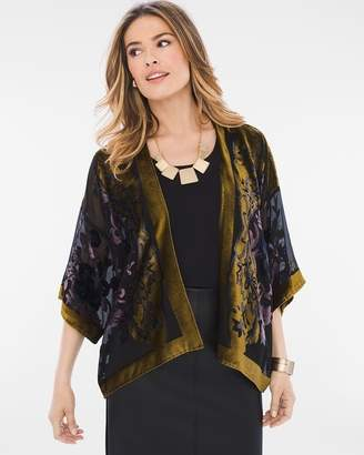 Chico's Velvet Burnout Jacket